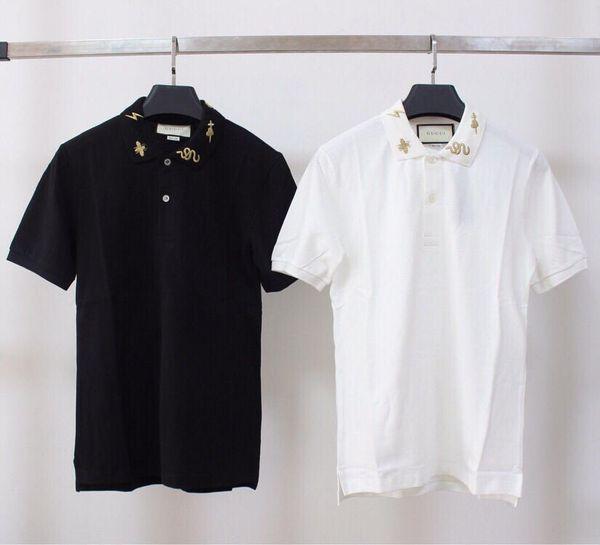 19ss Nueva llegada GUCHI Modelo Lovers Cotton Tshirts polo París Manga corta Camiseta de verano Chaleco transpirable Streetwear camiseta al aire libre