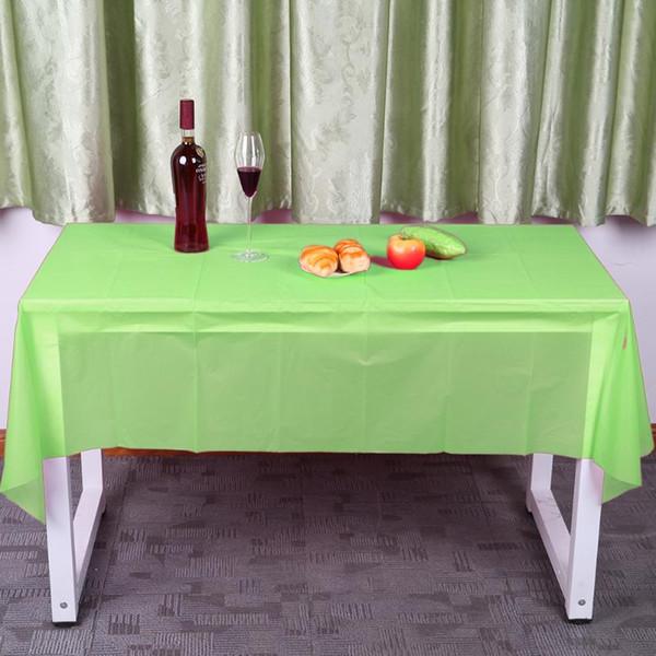 10 cores Mesa Retangular Cobre Toalhas De Mesa De Plástico para Camping Wedding Catering Decoração Do Partido Toalha De Mesa de Casamento 137X183 cm