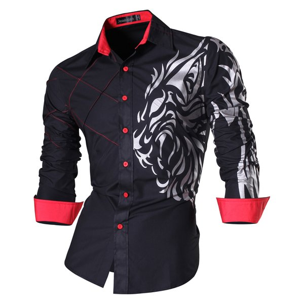 Spring Autumn Features Men Jeans Shirt New Arrival Long Sleeve Casual Slim Fit Male Shirts Z030 Q190518