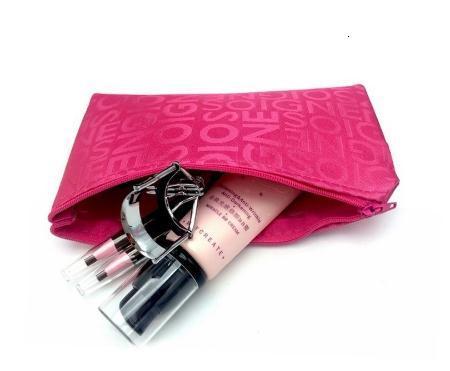 Coreano moda lettere Cosmetic Bag femminile di corsa di trucco Necary bagagli Pacchetto Fashion Cosmetic