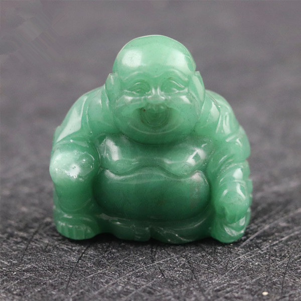top popular Natural Stone Carved Buddas Crystal Agate Gemstone Opal Quartz Jade Crafts Maitreya Buddha Home Decoration Wholesale 2019