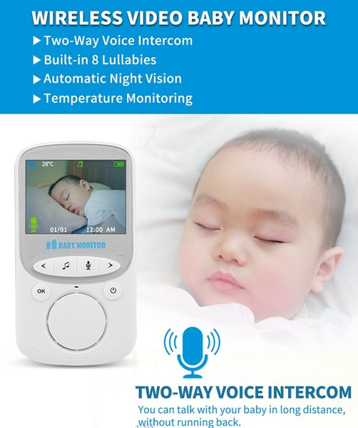 Good Quality 3.5 Inch Screen Smart Infant LCD Display Movement Wireless Video Baby Monitor two-way intercom
