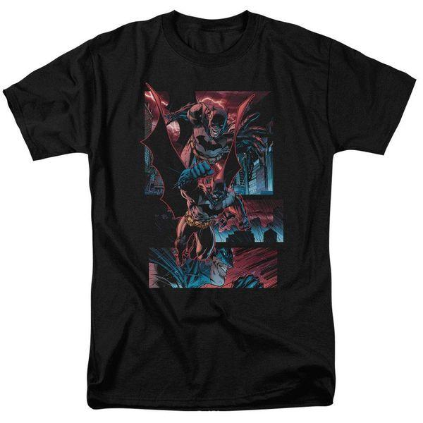 Batman Dark Knight Panels DC Comics Lizenziertes Adult T-Shirt