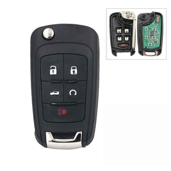 Car 5Button Keyless Entry Remote Key Fob for Chevrolet 433MHz With ID46 Chip HU100