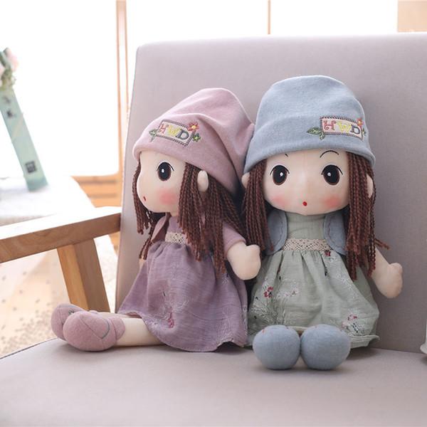Linda niña de peluche de juguete de la vida real de peluche princesa niña peluche suave personaje muñeca juguetes para niños regalo de cumpleaños para niña