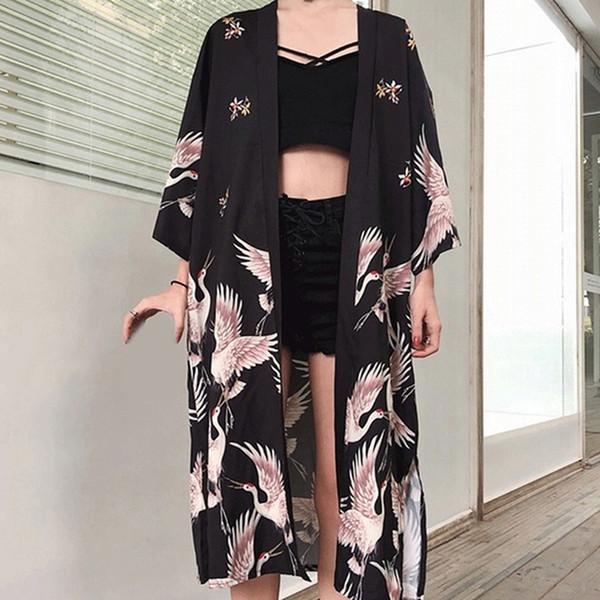 Retro Solto Fino Sunscreen Jacket Lace Up Cardigan Japonês Primavera Verão Ponto Aberto Xale Casaco Mulheres Básico Casacos Sobretudo