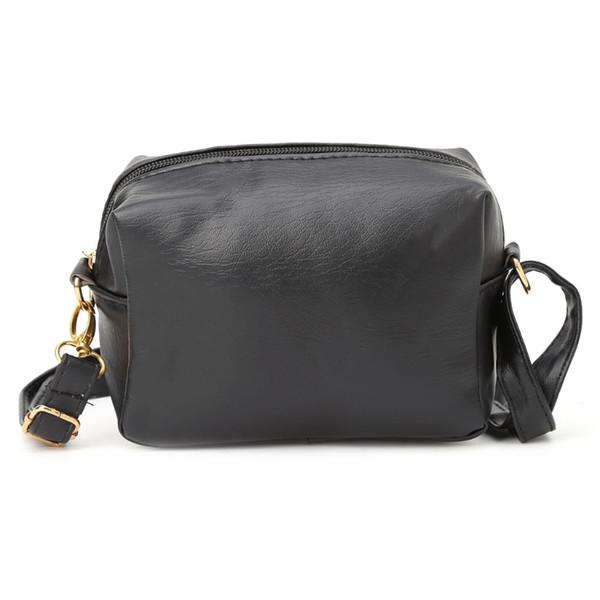 Designer THINKTHENDO Women Leather Crossbody Shoulder Bag Black New Fashion Messenger Small Handbag Tote Solid Zip Casual New 2019