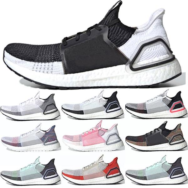 Adidas Ultra Boost 19 2019 Ultra Boost 19 Männer Frauen Laufschuhe 5.0 UltraBoost Laser Rot Dunkel Pixel Schwarz Weiß Oreo Günstige Sport Sneaker Größe 5-12