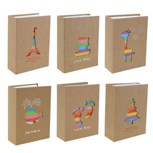 6 inch 100 Pages Interleaf Type Photo Album Picture Storage Frame for Lover Baby Photo Album Scrapbooking Craft Party Favors