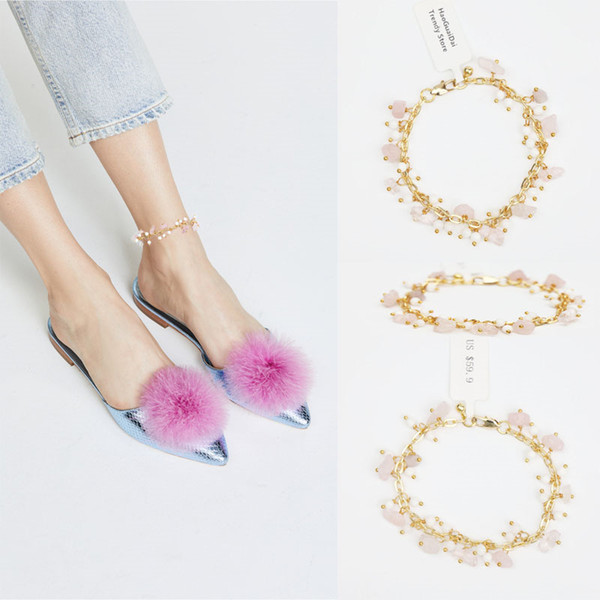 2018 Rushed New Leg Bracelet Halhal Anklets For Women Anklet Foot Jewelry Beach Wedding Bridesmaid Gift Handcrafted Dainty