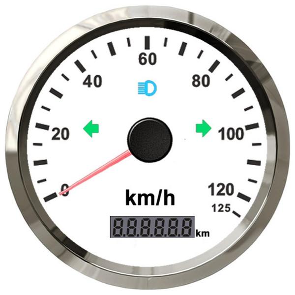 À prova d 'água 85mm GPS Velocímetro Odômetro 125 km / h para Carro Snowmobile Motocicleta Buggy Milhagem Ajustável