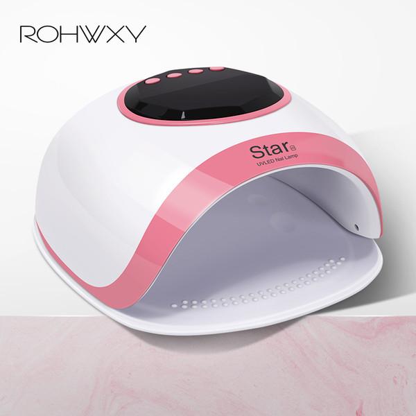 Rohwxy 60 w Led Uv Ice Lamp Professione Dryer Manicure Nail Art Fai da te Design Tools per asciugare tutto Gel Polish T190624