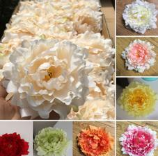 rose heads artificial flowers plastic fake flowers head high quality silk flowers wedding decoration wall free shipping WF008