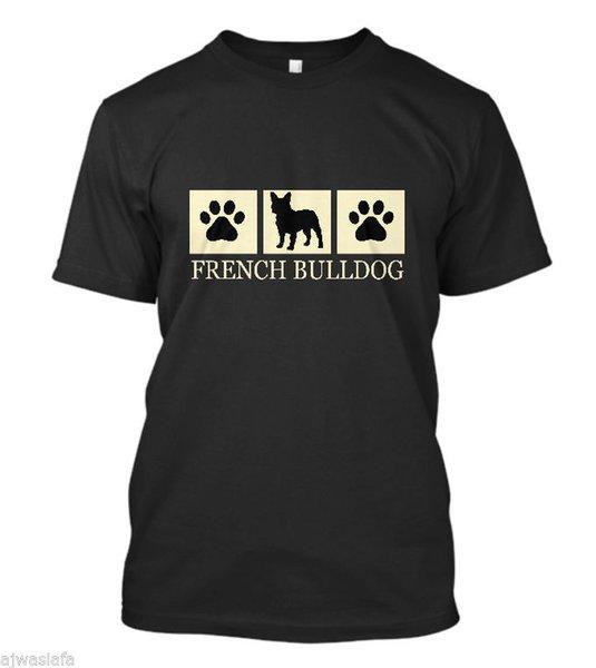 New French Bulldog Silhouette T-Shirt Dog Lover Tee - Men's Short Sleeve T-Shirt funny 100% Cotton t shirt harajuku Summer 2018 tshirt