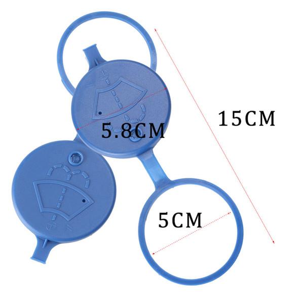 Essuie-glace de voiture lave-glace réservoir de liquide réservoir réservoir couvercle couvercle pour couvercle / paire bleu