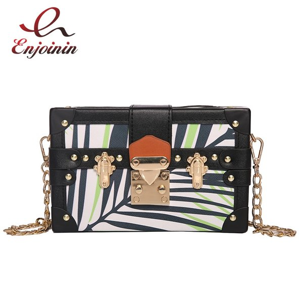 New Style Color Geometric Stripes Box Shape Women's Party Small Purse Shoulder Bag Handbag Ladies Crossbody Mini Messenger Bag #274794