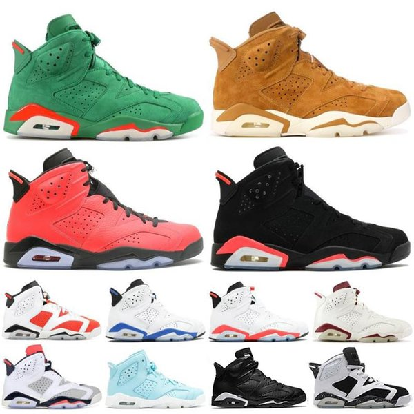 Flint 6 VI Tinker homens tênis de basquete Clássico 6 s Mens trigo UNC branco infravermelho Formador moda de luxo dos homens das mulheres sandálias de grife sapatos