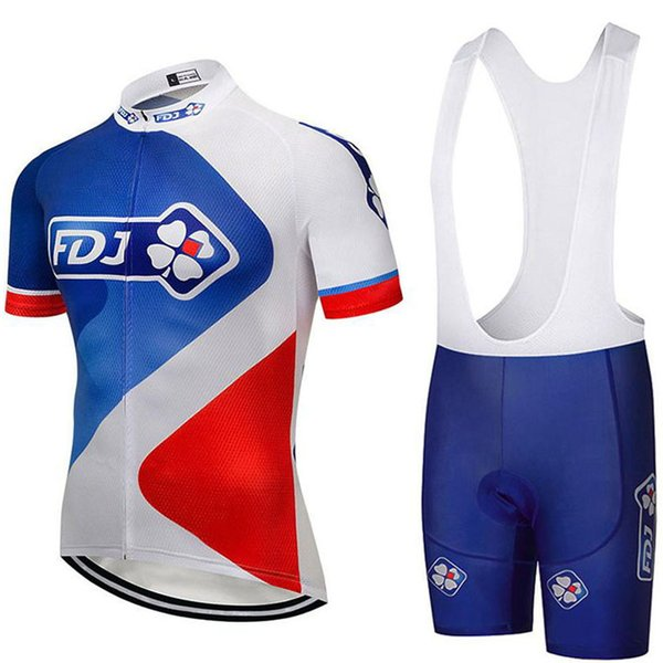 2019 Summer Pro Cycling Uci Tour Team Blanco Rojo Fdj Maillot Cycling Jersey 9d Gel Pad Bib Shorts Set Ciclismo Hombres Roupa Ciclismo