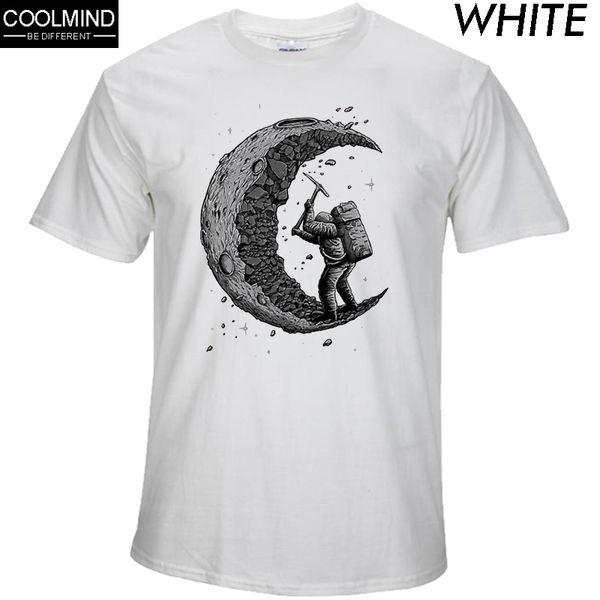 Laoganma Digging The Moon Print Casual Mens O - Neck T Shirts Fashion Men's Tops Men T-shirt Short Sleeve Men Tshirt 2017