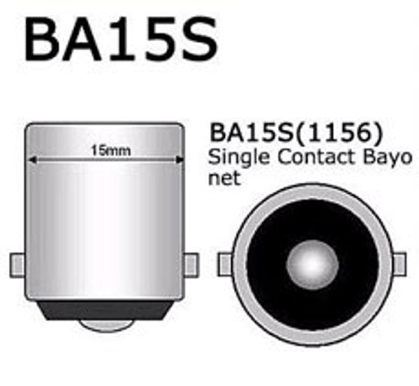 BA15S P21W 1156 12V 빨간색