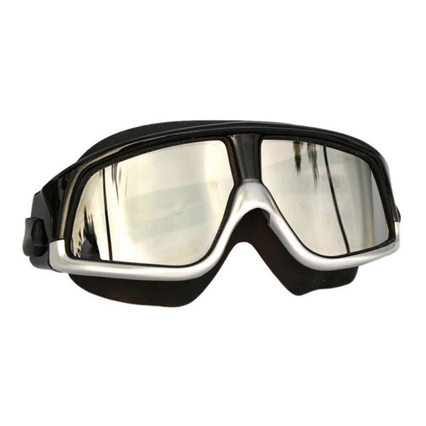 Плавательные очки Удобные силиконовые очки с большой оправой для плавания Противотуманные UV Мужчины Женщины Маска для плавания Водонепроницаемый