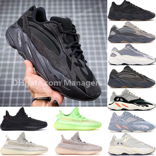 En kaliteli Adidas yeezy 700 350 v2 Vanta Programı Siyah Atalet Tephra Synth Lundmark Siyah Statik Antlia GID Kanye West Erkek Tasarımcı ayakkabı erkekler kadınlar Sneakers