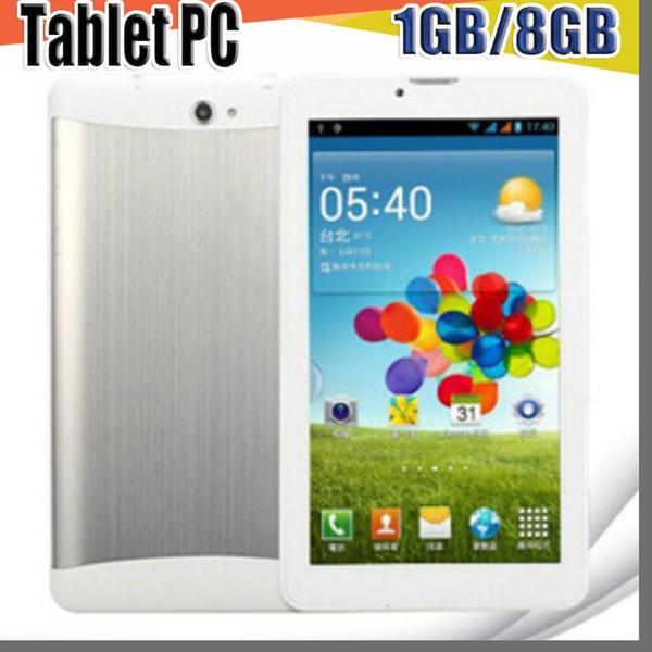 "top popular 168 DHL 7"" 7 inch 3G phablet Phone Call Tablet PC MTK6572 Dual Core Android 5.1 Bluetooth Wifi 1GB 8GB Dual Camera SIM Card GPS B-7PB 2021"
