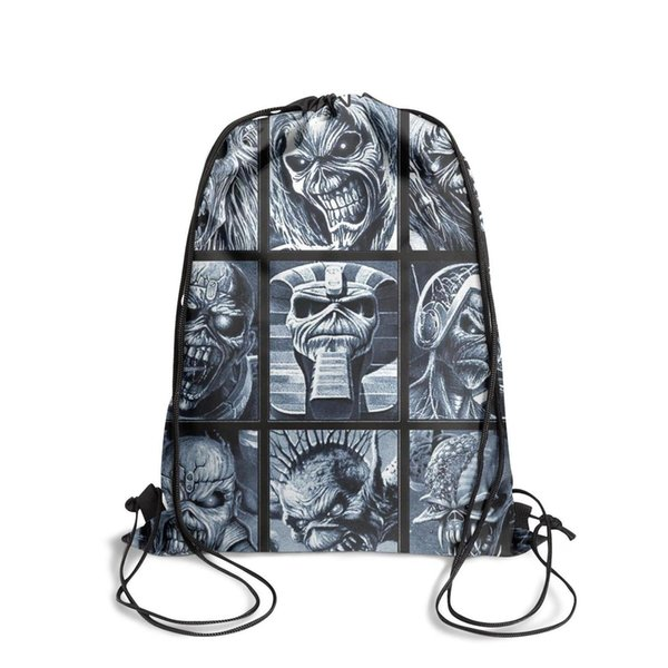 Sports backpack Iron Maiden Albums outdoor cute personalizedpackage daily limited edition backpack pullstring sack pouch Travel Fabric Backp