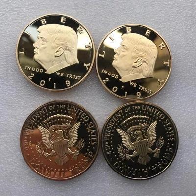 2019 plus récents Donald Trump commémoratif avatar Coin président américain Pièces d'or Badge d'argent Collection Metal Craft