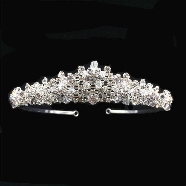 Moda hecha a mano Novia Boda Tiara Corona Cristal Rhinestone Joyería Nupcial Del Pelo Nuevos Accesorios Clásicos Venta caliente