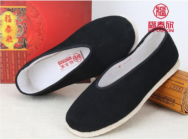 Health Comfort One-thousand-layer Hand-made Cloth Canvas Shoes with rib soles casual Walk Travel Indoor Boss men's shoes ..Round mouth