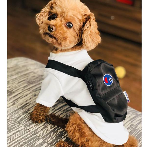 Bolso encantador Marca Teddy Puppy Sweater Designer Brand White Dog Sudaderas Moda Carta Impreso Otoño Cálido Outwear Envío Gratis