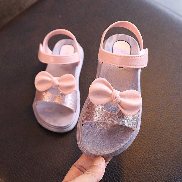 Summer Children Kids Toddler Girls Casual Butterfly Sandals Princess Flat Shoes