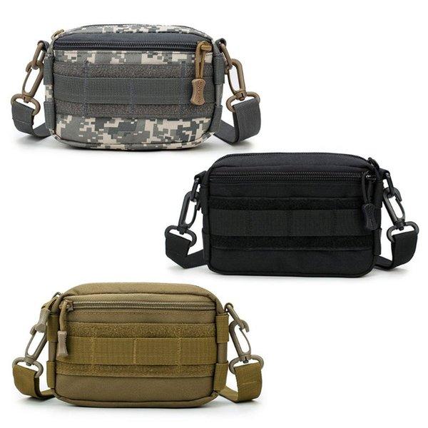1000D Outdoor Tactical Waist Bag Shoulder Multifunctional EDC Molle Tool Zipper Waist Pack Accessory Durable Belt