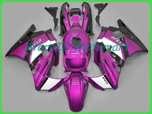 Kit carenatura moto per HONDA CBR600F2 91 92 93 94 CBR 600 F2 1991 1994 ABS Fiamme rosse nero Set carenature + regali HF41