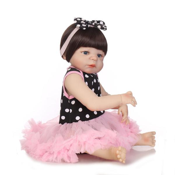 Bebe Reborn 55CM Soft Silicone Reborn Baby Doll Girl Toys Lifelike Babies Boneca Full VInyl Fashion Dolls Reborn Menina