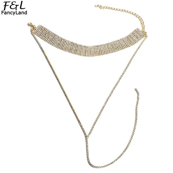 Women Fashion Rhinestone Geometric Layered Choker Lobster Claw Necklace Casual Wedding Chain Jewelry Accessories