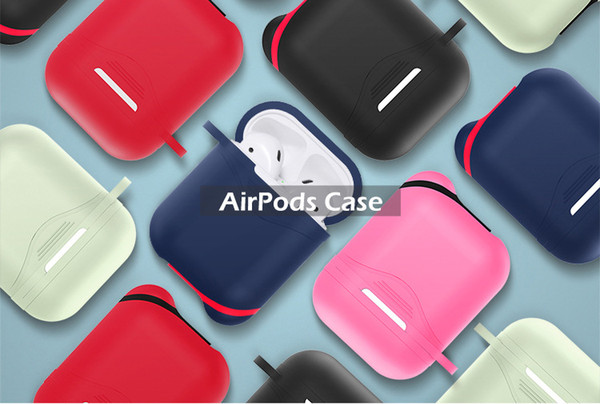 AirPods Accessories Shockproof Case Cover Portable & Protective Silicone(Front LED Not Visible),Anti-drop, dustproof, anti-fingerprint