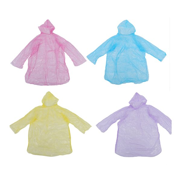 10Pcs Disposable Hooded Poncho Emergency Raincoat Adult Camping Hiking Travel
