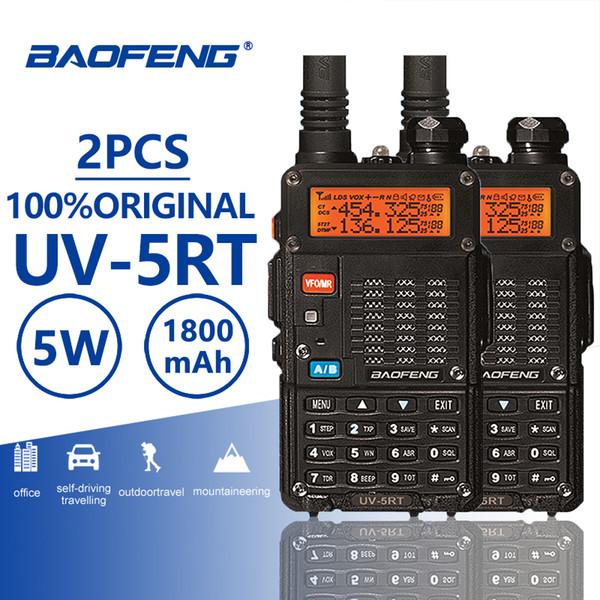 2pcs Baofeng UV-5RT Walkie Talke Radio Comunicador UV 5RT CB Radio Scanner Avanzata Baofeng UV-5R Walky Talky Professional UV5R