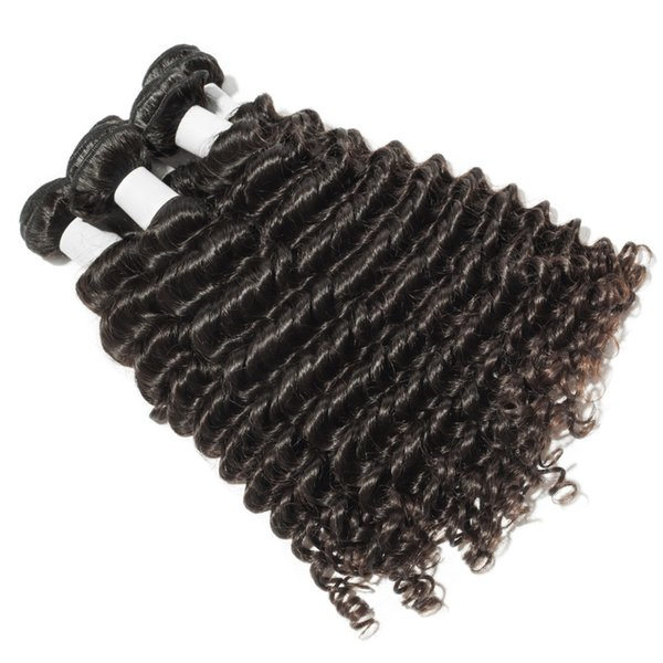 Wholesale 10A Top Quality real human hair Deep Wave Bundles selling directly from factory Tangle free No Shedding No mix