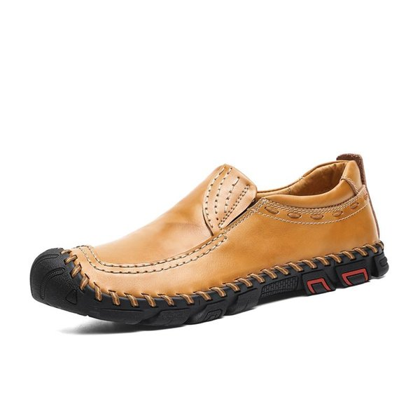 New Comfortable Men's shoe Casual Shoes Loafers Quality Handmade Leather Shoes Flats Moccasins