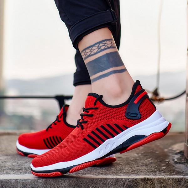 2020 Scarpe Uomo Casual Comfort vulcanizzare Sneakers diresistenza antiscivolo Maschio Mesh Taglie 39-45