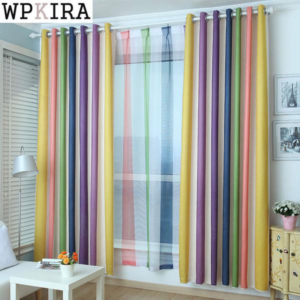 Personalizável 300 cm alta cortina do arco-íris janela voile quarto sala de estar cortina painel pura cozinha pronta 05030