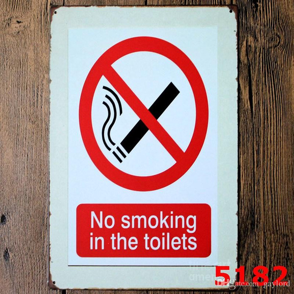 100pcs Danger Warning Metal Tin Signs No Smoking Signage Home Decor Wall Art Painting Plaque Vintage Rock&Roll Decorative Metal Sign