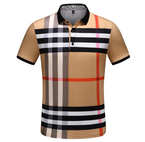 19ss Estate Designer Polo uomo Luxuryt Polo Casual Mens Shirt GGburberry Lettera traspirante Stampa Fashion Brand Uomo maglia polo camicia