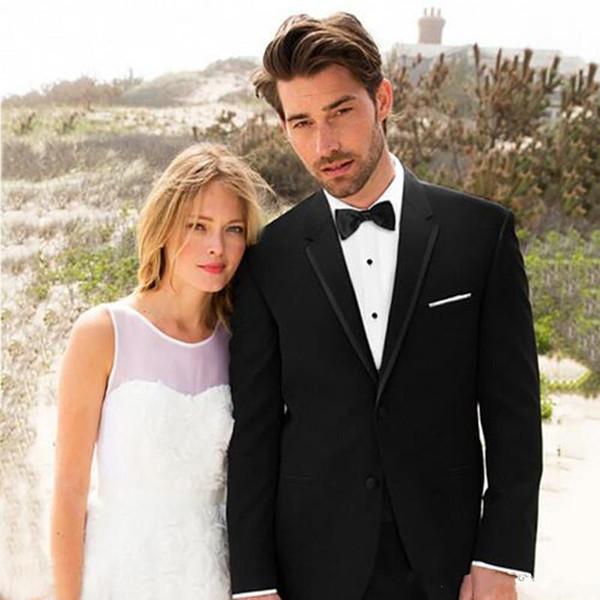 Nouveau mariage noir hommes costumes Gux Tuxedos Contry 2 pièces (Veste + Pantalon) Slim Fit meilleur homme Prom Wear Blazer 240