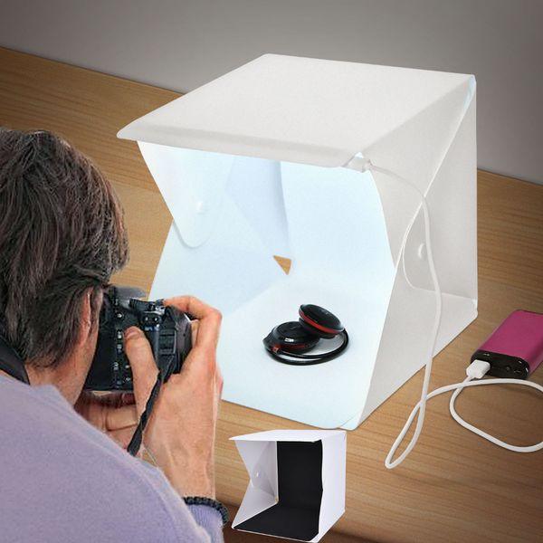 Montón de accesorios fotográficos Fosoto portátil LED luz plegable estudio difuso caja suave 24 cm 9 \