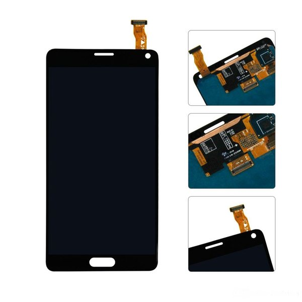 For note4 lcd 100% Tested Super AMOLED LCD for Samsung Note 4 N910 N910A N910F Note4 LCD Display Touch Screen Digitizer Assembly Sticker