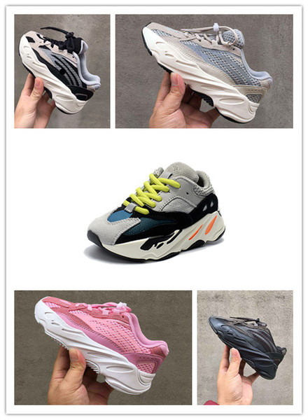 Kids Running Shoes Kanye West Wave Runner 700 Youth Shoes Trainers Sply 700 Sports Sneakers Casual Toddler Shoe Size :28-35